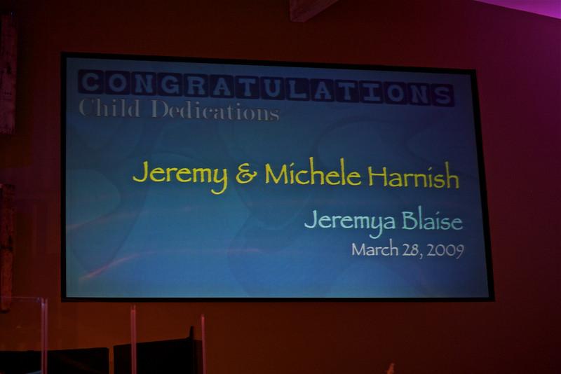 <h3><strong>Jeremy & Michele Harnish</strong></h3> Jeremya Blaise March 28. 2009