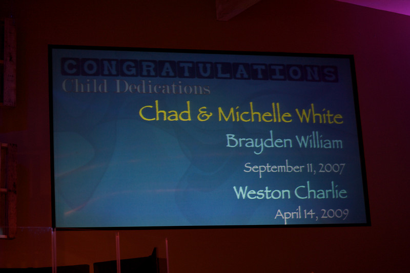 <h3><strong>Chad & Michelle White</strong></h3> Brayden William September 11. 2007  Weston Charlie April 14. 2009