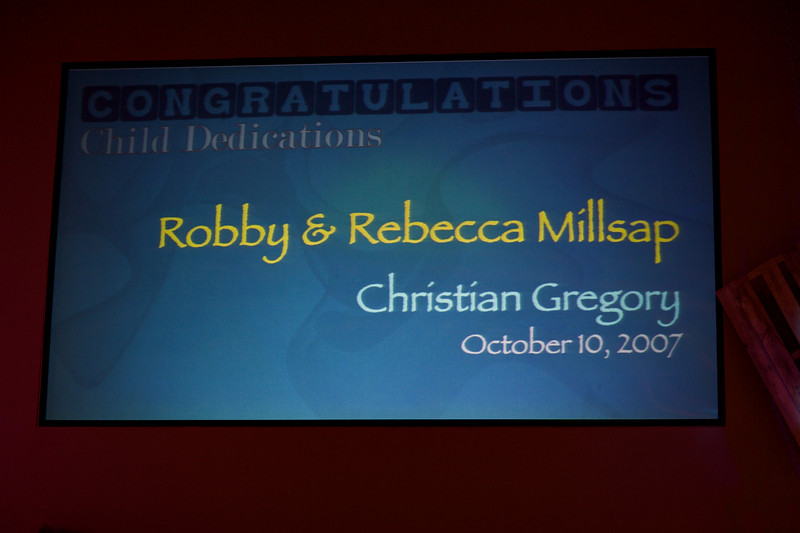<h3><strong>Robby & Rebecca Millsap</strong></h3> Christian Gregory October 10. 2007