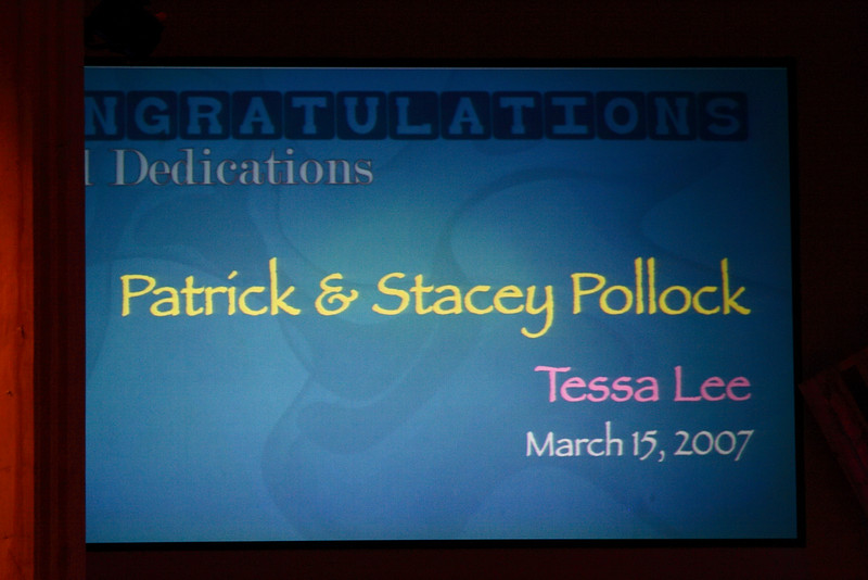 <h3><strong>Patrick & Stacey Pollock</strong></h3> Tessa Lee March 15. 2007