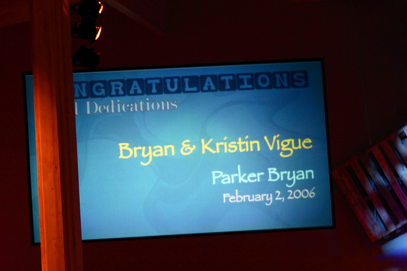 <h3><strong>Bryan & Kristin Vigue</strong></h3> Parker Bryan February 2. 2006