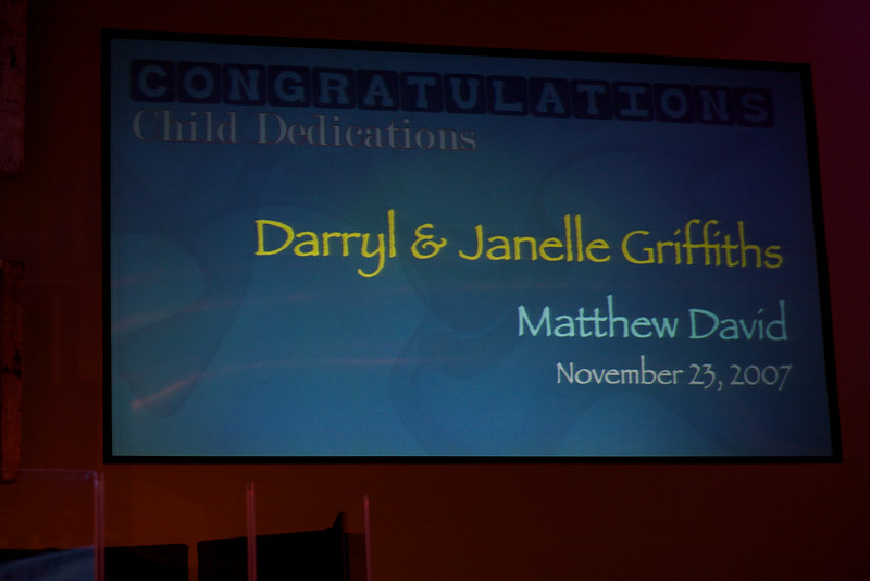 <h3><strong>Darryl & Janelle Griffiths</strong></h3> Matthew David November 23. 2007
