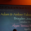 <center>Adam & Amber Fabarez Brayden Joseph – October 14, 2002 Alyse Teresa Rose – April 11, 2009</center>