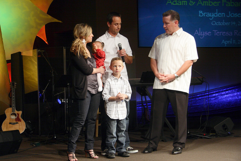 <center>Adam & Amber Fabarez Brayden Joseph – October 14, 2002 Alyse Teresa Rose – April 11, 2009</center>
