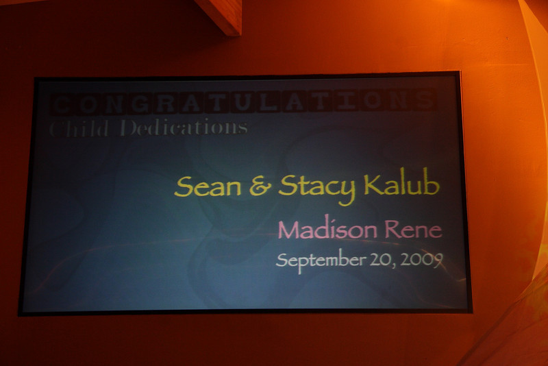 <center>Sean & Stacy Kalub Madison Rene September 20, 2009</center>
