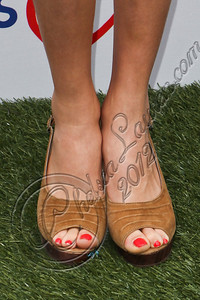 PACIFIC PALISADES, CA - APRIL 22:  Actress Peyton List (shoe detail) arrives at The Children Mending Hearts 4th annual spring benefit on April 22, 2012 in Pacific Palisades, California.  (Photo by Chelsea Lauren/Getty Images)