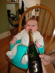 Isla helps celebrate the birth of JoDa