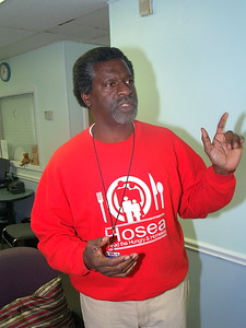 """Actor, Afemo Omilami, Co-Director of """"Hosea Feed The Hungry and Homeless"""" and the husband of Elisabeth Omilami."""