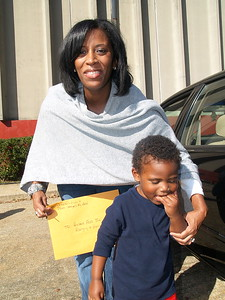 Monique Evans, President & Founder of The Children's Pride Foundation and her son.