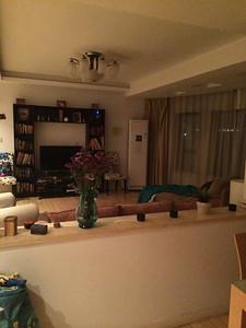Felicia Escandon's living room in Shanghai thanks to a kind host teacher.
