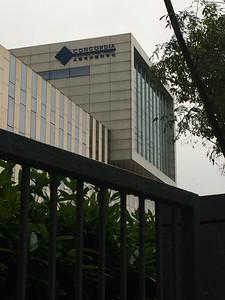 The exterior of Concordia International School Shanghai.
