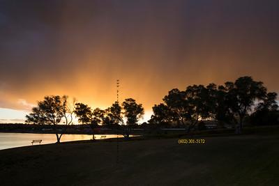 Sunset Fountain Hills Lake 7220