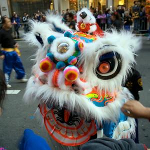 SFPD Lion dancer