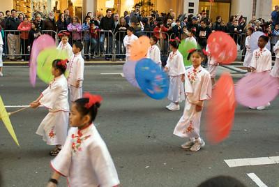 Schoolchildren dancing