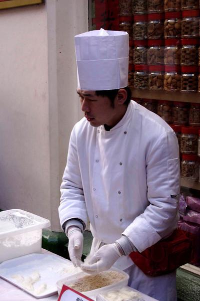 Chinese chef Chinatown Chinese new year celebrations London 2009