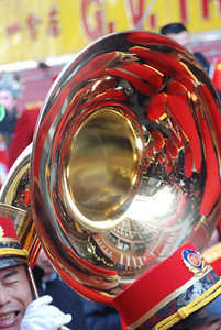 sousaphone in marching band