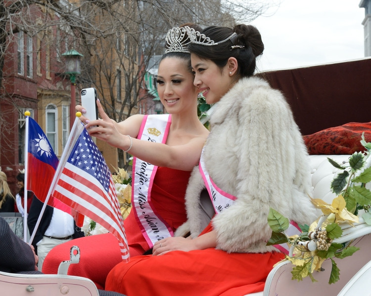 Miss Asian America and Runner Up.