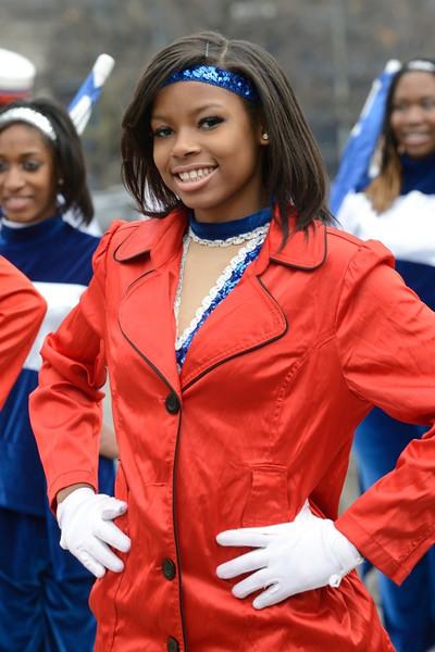 Anacostia High School Band auxiliary.
