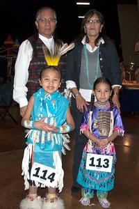 Roger and Rhoda Scott with their dancing grandchildren, Jaiden Scott and Taloa Scott.