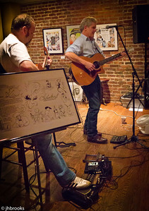 Christopher Brown w John Walsh at the BeanRunner Cafe
