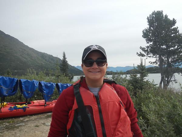 Getting set up for mountain lake kayaking!