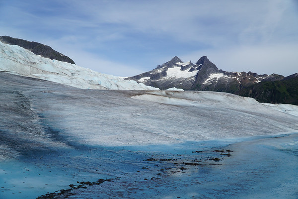 The glacier had such beautiful colors!