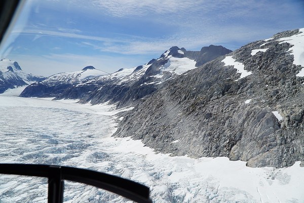 Second helicopter ride of the day - over a totally different part of the ice field