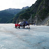 Once again, we've landed out in the middle of nowhere on a glacier!