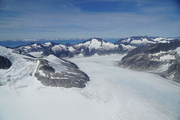 An arial view of Mendenhall Glacier