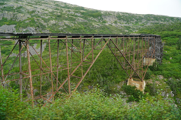 An old bridge from the gold mining days! Welcome to Skagway!
