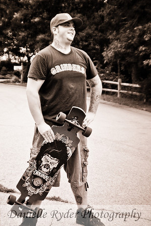 Chris Longboarding