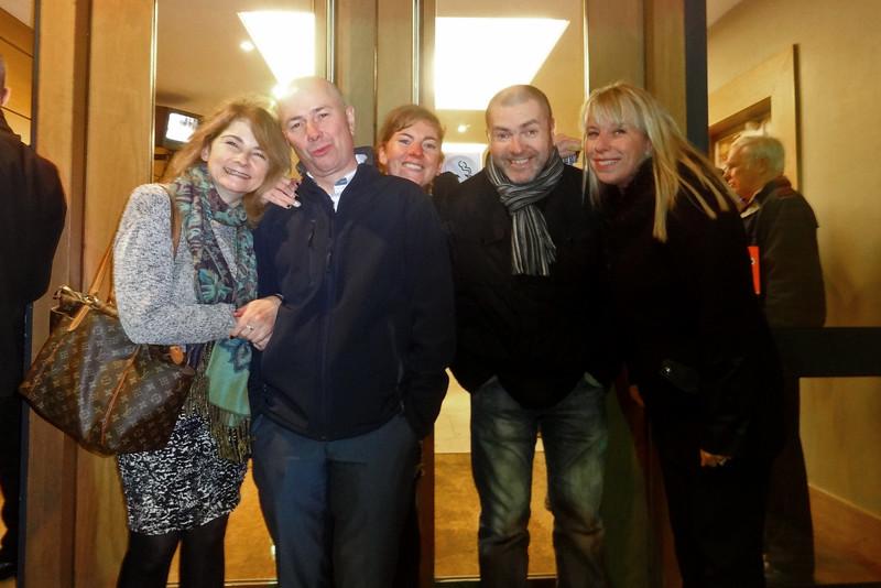 Delia, Stephen, Christina, Danny and Nuala<br /> Chris Perrys 70th bithday party<br /> Lansdowne Hotel Belfast<br /> Nov 2014