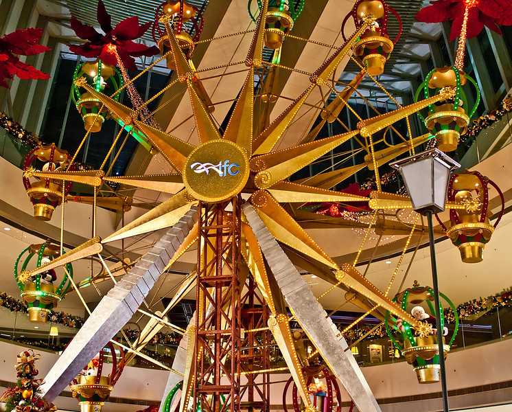 Christmas decoration at IFC Mall