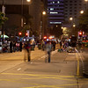 People partying on the streets of Central
