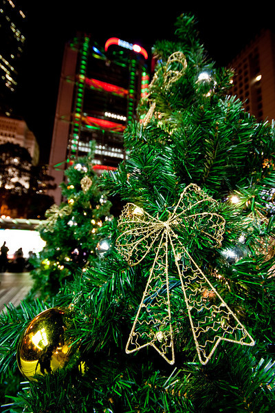 Christmas decoration at Central
