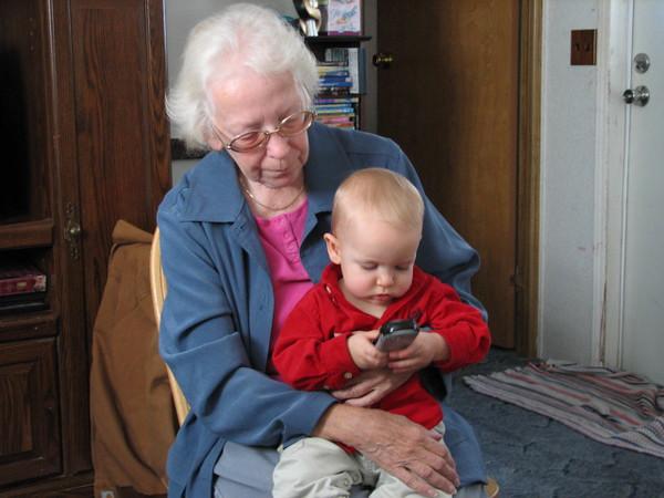 Christmas Visit with Granny (Great Grandma Chollett)