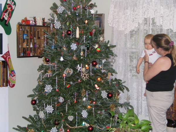 Trimming the tree at Grammy's house