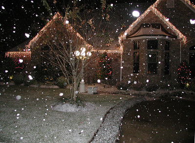 Snowing at the McBroom's house......