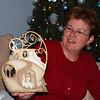Jenny with a new nativity ornament.