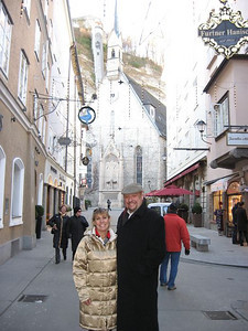 On the Getreidegasse in Salzburg