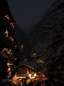 Nighttime sky over Zermatt