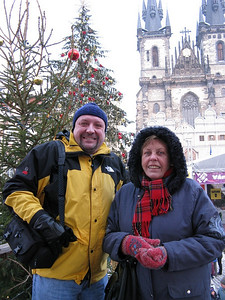 With mom at the Old Town Christmas market