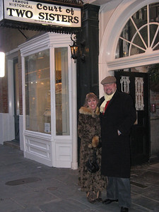 Radim and Lisa at the Court Of Two Sisters restaurant in New Orleans