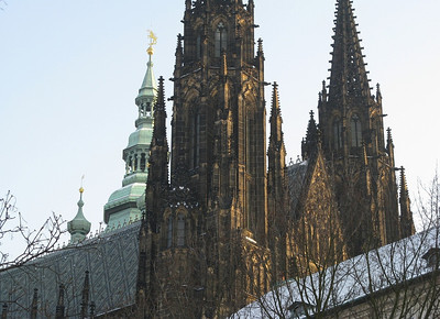 Snowy St. Vitus Cathedral