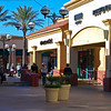 Shopping at the outlet mall.