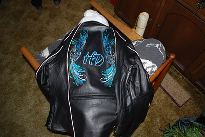 Aunt Debbie's new Leather Jacket
