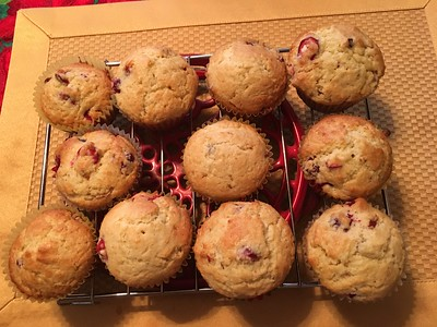 Delicious homemade cranberry muffins