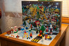 This is a photo of our Lego Advent calendar. Our young nephews were going to be visiting Christmas morning and we didn't want parts missing or to lead them into temptation. :) So I took a few shots and we put it away.