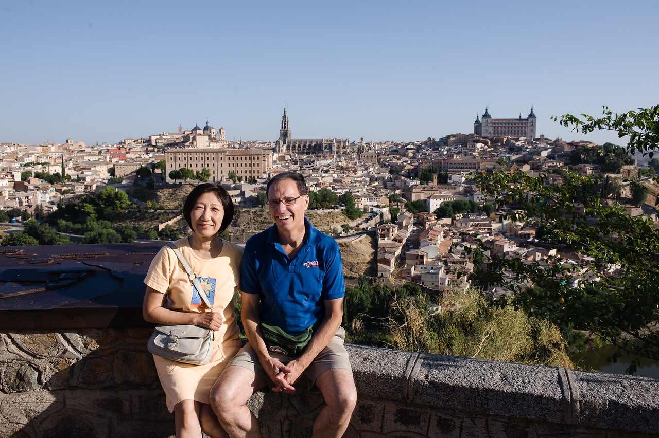 In Spain, we saw the city of Toledo from the neighboring hillside before venturing in to the ancient city.