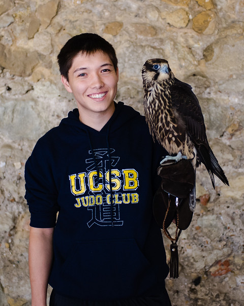 Within the palace walls was the opportunity to take photos with birds of prey, Eric naturally chose the Peregrine Falcon, one of his favorite raptors.